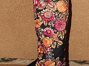 Сапоги платок( цветы) 40-го размера,скидка | Ярмарка Мастеров - ручная работа, handmade
