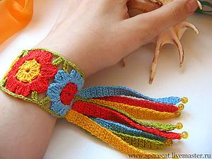 Цветочный хиппи-браслет. Ярмарка Мастеров - ручная работа, handmade.