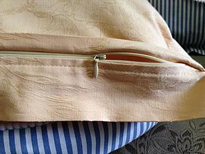 Как сшить наволочку с потайной застежкой-молнией. Ярмарка Мастеров - ручная работа, handmade.