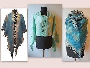 Палантин (шарф, бактус) из префельта. | Ярмарка Мастеров - ручная работа, handmade