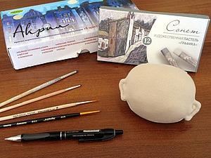 Рисуем губки текстильной кукле. Ярмарка Мастеров - ручная работа, handmade.