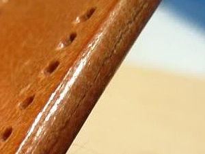 Методика обработки торца кожи сликером | Ярмарка Мастеров - ручная работа, handmade