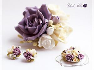 Мастер-класс: серьги с розами и фрезией из холодного фарфора. Ярмарка Мастеров - ручная работа, handmade.