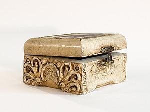 шкатулочка с имитацией резьбы по кости | Ярмарка Мастеров - ручная работа, handmade