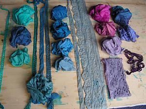 Экспериментальное окрашивание тканей с помощью подручных средств | Ярмарка Мастеров - ручная работа, handmade