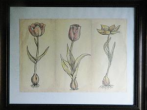 Продолжаем цветочную серию. Тюльпаны.. Ярмарка Мастеров - ручная работа, handmade.