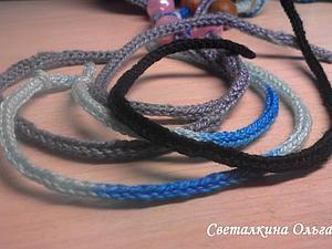 Вязание простого шнура из трех петель | Ярмарка Мастеров - ручная работа, handmade