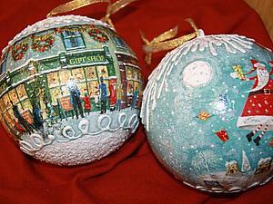 Новогодние шары | Ярмарка Мастеров - ручная работа, handmade
