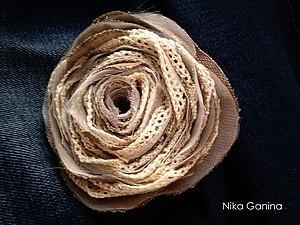Многослойная брошь в стиле Бохо | Ярмарка Мастеров - ручная работа, handmade