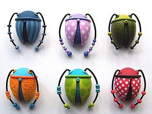 Чудесные жуки и полимерная графика Яны Леман | Ярмарка Мастеров - ручная работа, handmade