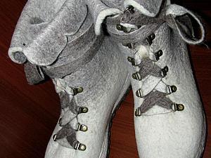 Семинар по изготовлению теплых ботинок из шерсти. | Ярмарка Мастеров - ручная работа, handmade