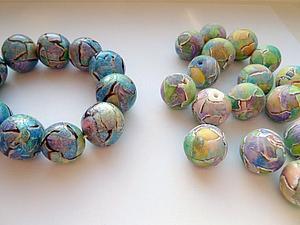 Перламутровая акварель: лепим бусины из полимерной глины | Ярмарка Мастеров - ручная работа, handmade