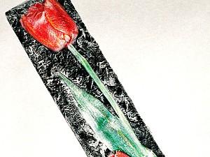 Гипсовый тюльпан   Ярмарка Мастеров - ручная работа, handmade