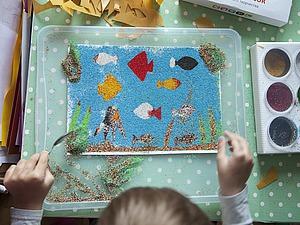 Как сделать трафарет для рисования цветным песком. Ярмарка Мастеров - ручная работа, handmade.