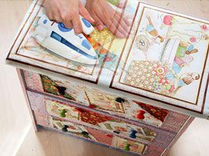 Если лоскутки тканей, остатки лент и пуговицы использовать для декорирования мебели, то получится... | Ярмарка Мастеров - ручная работа, handmade