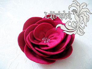 Роза из фетра | Ярмарка Мастеров - ручная работа, handmade