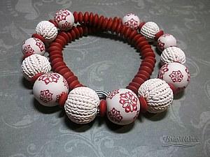 Вязание из полимерной глины - секрет круглых бусин:) | Ярмарка Мастеров - ручная работа, handmade