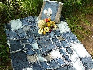 Джинсовые пледы, или Как не расставаться с любимыми джинсами | Ярмарка Мастеров - ручная работа, handmade