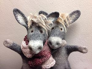 новогодний мастер-класс по валяным зверям-бибабо | Ярмарка Мастеров - ручная работа, handmade