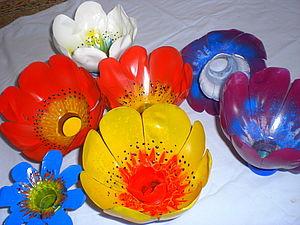 Вторая жизнь пластика 2. Цветы. | Ярмарка Мастеров - ручная работа, handmade