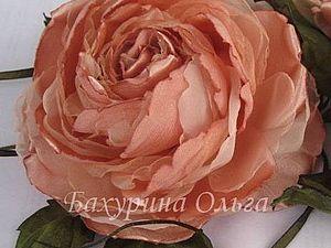 Цветы из ткани.Мастер-класс.Роза Анни | Ярмарка Мастеров - ручная работа, handmade