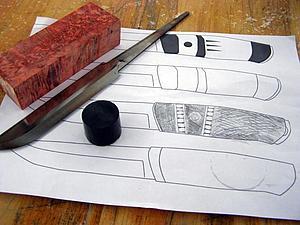 Делаем нож с проставками. Основные этапы процесса.. Ярмарка Мастеров - ручная работа, handmade.