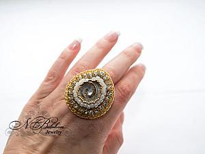 Кольцо из окаменелой ракушки   Ярмарка Мастеров - ручная работа, handmade