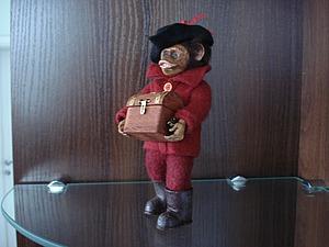 Оденем символ 2016 года в фетр: мастер-класс по изготовлению обезьянки-пирата. Ярмарка Мастеров - ручная работа, handmade.