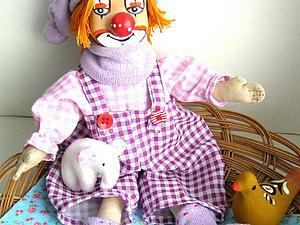 Мастер-класс: лавандовый клоун Клеточка. Ярмарка Мастеров - ручная работа, handmade.