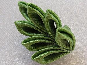 Канзаши. Мини-МК сборки веточки | Ярмарка Мастеров - ручная работа, handmade