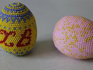 Вязаные бисерные пасхальные яйца   Ярмарка Мастеров - ручная работа, handmade