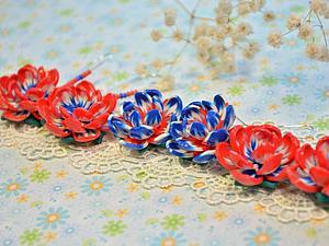 Яркие цветочные серьги из полимерной глины. Ярмарка Мастеров - ручная работа, handmade.