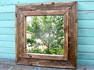 Делаем из поддона зеркало в стиле «лофт». Ярмарка Мастеров - ручная работа, handmade.