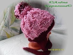 Зимняя двойная шапочка | Ярмарка Мастеров - ручная работа, handmade