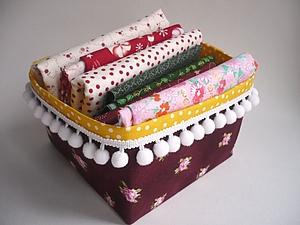 Текстильный короб | Ярмарка Мастеров - ручная работа, handmade