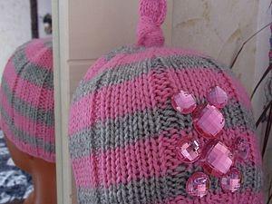 Вяжем шапочку для девочки. Ярмарка Мастеров - ручная работа, handmade.