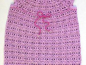 Вяжем ажурное детское платье крючком. Ярмарка Мастеров - ручная работа, handmade.