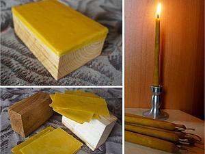 свечи из пчелинного воска с прополисом | Ярмарка Мастеров - ручная работа, handmade