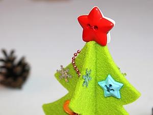 МК Новогодняя елочка из фетра. Ярмарка Мастеров - ручная работа, handmade.