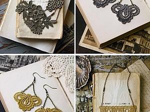 Украшения из кружев   Ярмарка Мастеров - ручная работа, handmade