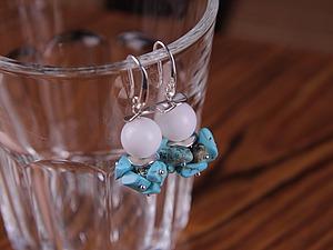Готовимся к весне: сережки с бирюзой своими руками. Ярмарка Мастеров - ручная работа, handmade.