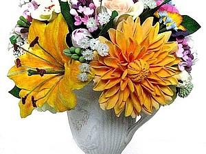 Цветы из пластики | Ярмарка Мастеров - ручная работа, handmade