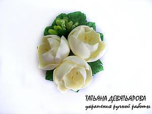 Делаем нежную заколочку «Весенние цветы» из фоамирана. Ярмарка Мастеров - ручная работа, handmade.