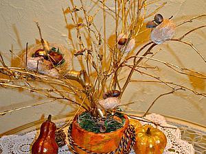 Делаем вместе с ребенком «Осеннее дерево». Ярмарка Мастеров - ручная работа, handmade.