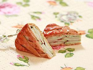 Яблочный пирог из полимерной глины. Ярмарка Мастеров - ручная работа, handmade.