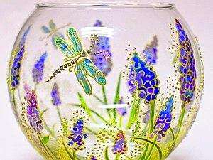 Витражная роспись стекла | Ярмарка Мастеров - ручная работа, handmade