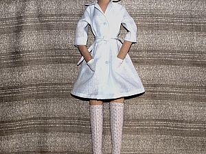 Пошив медицинского халатика для куклы | Ярмарка Мастеров - ручная работа, handmade