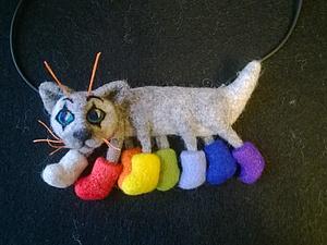 Кошка-осьминожка   Ярмарка Мастеров - ручная работа, handmade