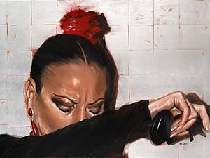 Мастер-класс Картина маслом за 3 часа. Интерьерная живопись. холст - 1 метр !Танцуй, Марселина! | Ярмарка Мастеров - ручная работа, handmade