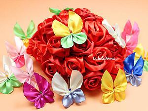 Мастер-класс: весенние бабочки из лент. Ярмарка Мастеров - ручная работа, handmade.